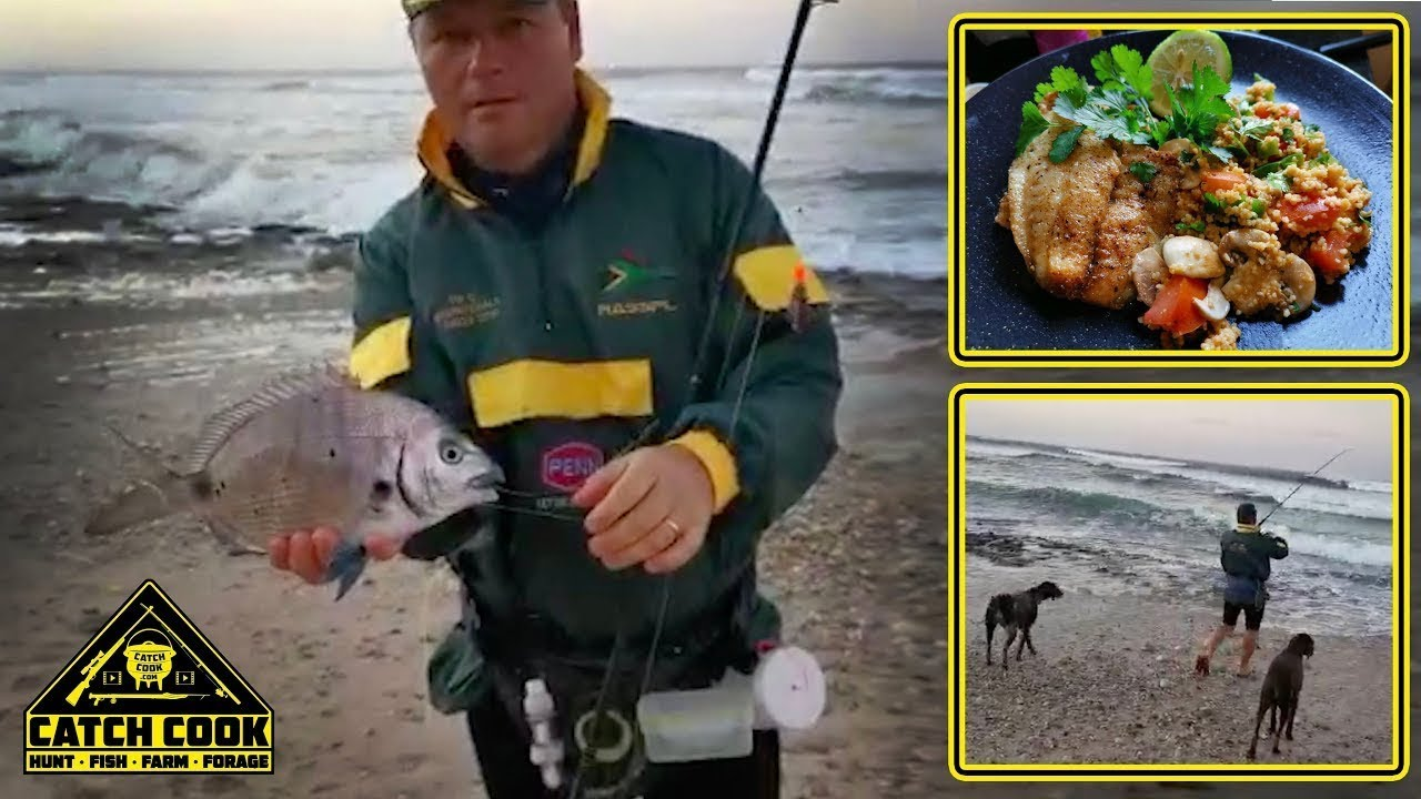 Amazing fresh Sargo / Blacktail Bream & Fragrant Cous Cous recipe [CATCH COOK] PE, South Africa - youtube
