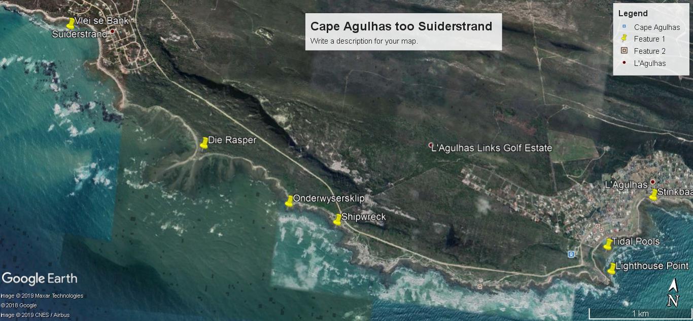 Cape Agulhas too Suiderstrand