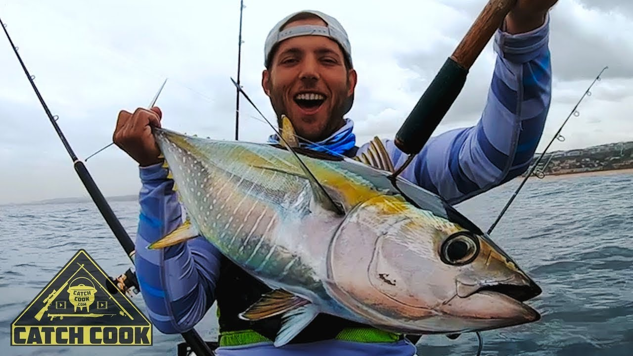 Tuna Kayak Fishing - CATCH COOK - South Africa, KZN - youtube